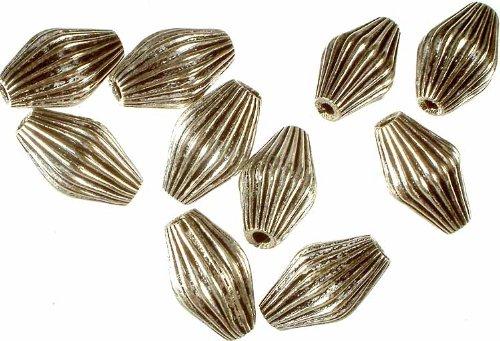 Mridangam Beads - Sterling Silver