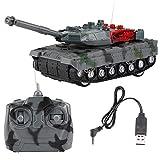 Dilwe RC Tank Jouet, 4CH Tank électrique de Simulation RC Char Jouet Cadeau pour Enfants
