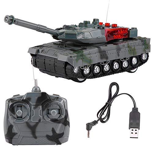 Dilwe Elektrische Panzer Spielzeug, RC Tank Elektrische 4 Kanäle Simulation Tank Fernbedienung Modell Spielzeug für Kinder Geschenk