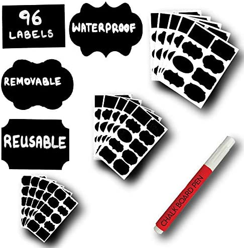 96 Mantah Label Stickers Reusable Waterproof and Refrigerator Safe in Small Medium and Large product image