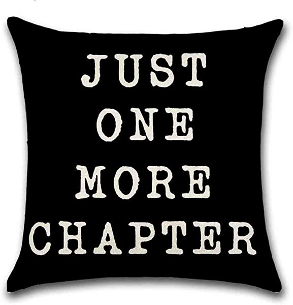Smilyard Quote Pillow Cover Cotton Linen Square Home Decorative Throw Pillow Case Cushion Covers 18 X 18 Inches IQ06