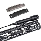 Higoo Tactical MLOK Keymod Pressure Remote Switch Pocket Panel for Rifle Flashlight, Tail Switch Mount Compatible with M300 M600 Flashlight Series Pressure Switch fits MLOK & Keymod System (Black)