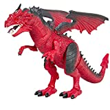 Dragon Kids Toy Walking Dinosaur T-Rex Toy with Real Movement, Light Up Eyes and Sounds