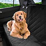 Pet Magasin Luxury Pet Car Seat Cover Waterproof & Scratch Proof & Nonslip Backing & Hammock Style & Heavy Duty Back Seat Protector for Cars Trucks & SUVs (Large, Black)