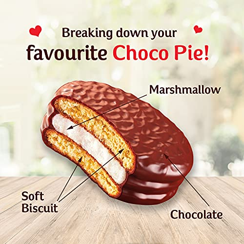 ORION Choco Pie – Chocolate Coated Biscuit, Festive Gift Pack, 560 g, 20 Count