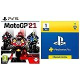 Koch Media MotoGP 21 PS5 ESP + Sony, PlayStation Plus Suscripción 1 Mes | PS5/PS4/PS3 | Código de descarga PSN Cuenta española