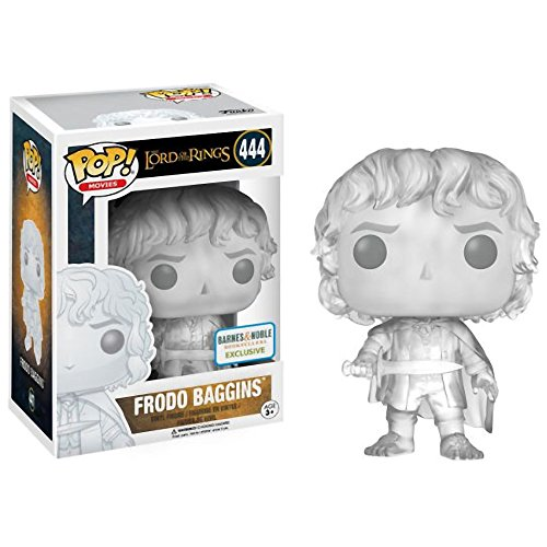 Funko Frodo Baggins [Invisible] (B&N Exclusive): Lord of The Rings x POP! Movies Vinyl Figure & 1 POP! Compatible PET Plastic Graphical Protector Bundle [#444 / 13552 - B]