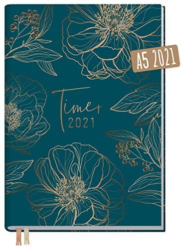 Chäff-Timer Classic A5 Kalender 2021 [Goldblüte] mit 1 Woche auf 2 Seiten | Terminplaner, Wochenkalender, Organizer, Terminkalender mit Wochenplaner | nachhaltig & klimaneutral