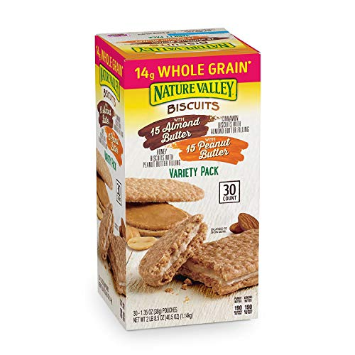 Nature Valley 30ct Biscuit with 15 Almond Butter amp with 15 Peanut Butter Variety Pack