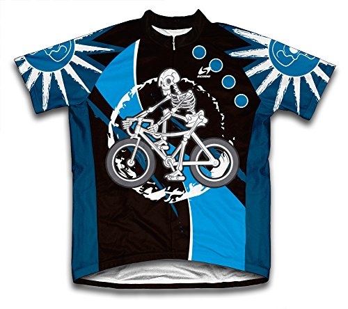 ScudoPro Skeleton Biker Short Sleeve Cycling Jersey for Men - Size L