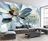 Papel tapiz fotográfico loto 3D Lana Fondo De Pantalla XXL Papel pintado tejido no tejido Moderna Decoración De Pared Sala Cuarto 450 X 300 cm