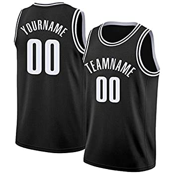 Custom Men Youth Basketball Jersey Tank Top 90S Hip Hop Clothing Sport Shirts Stitched Name & Number Black-White
