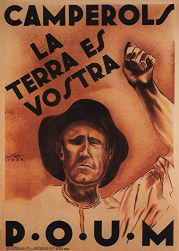 Vintage Española Guerra Civil 1936-39 Propaganda Campesina, This Land is Yours 250 g/m², Reproducción A3