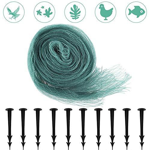 GHDBHFD Garten Anti-Vogel-Mesh-Trellis-Teich-Abdeckung Netto Netting mit 10 Fixing Stakes Teich Wassergarten Fische Schutz Supplies