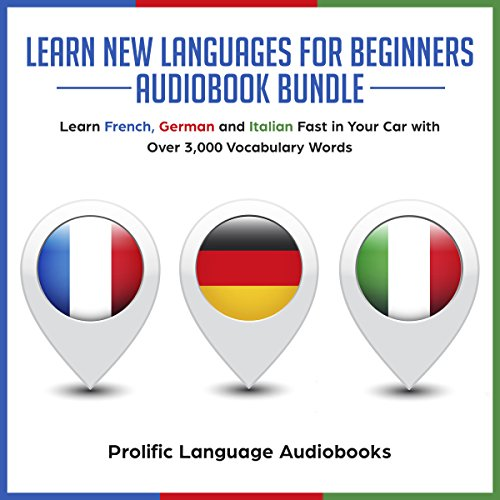 Learn New Languages for Beginners Audiobook Bundle audiobook cover art