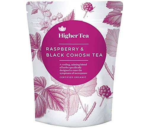 Raspberry and Black Cohosh Tea for Menopause Relief. Perfect Cooling Support, Calming Tea Formula for Symptoms Like hot Flashes, Sweats and Tiredness