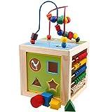 BEETEST ábaco de Madera Niños 5 en 1 juguete de madera educativo alrededor de...
