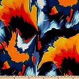 TELIO 0680093 Misty Slub Knit Tie Dye Explosion Print Denim