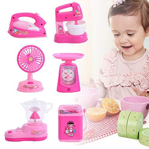 ROSOY 1 Satz Kinder Spielzeug Elektronische Waschmaschine Mini Rollenspiel Eisen Fan Entsafter Mixer