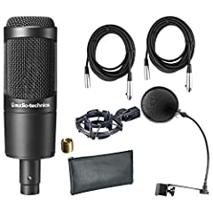 Includes Shock Mount , Pop Filter, and (2) 20' XLR Microphone Cable! Large diaphragm for smooth, natural sound and low noise High SPL handling and wide dynamic range provide unmatched versatility Custom shock mount provides superior isolation Include...