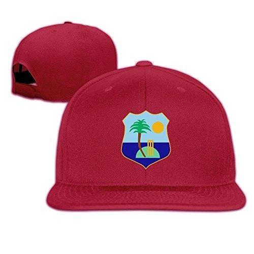 XCarmen Unisex West Indies Cricket Board Flag Baseball Cap Red