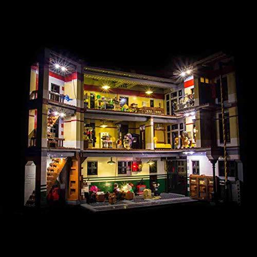 POXL LED Beleuchtung Licht Set Für Lego Ghostbusters Feuerwehr-Hauptquartier - LED-Kabel Licht Kit Für Lego 75827 - Ohne Lego Set