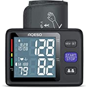 """Blood Pressure Monitor Upper Arm with Large Cuff 9""""-17"""", Automatic Digital Blood Pressure Cuffs for Home Use, Large LCD w/ Backlit, BP Machine w/ 1000 Readings, Pulse Rate Monitoring Meter"""