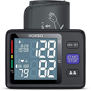 Blood Pressure Monitor Upper Arm with Large Cuff 9 -17  Automatic Digital Blood Pressure Cuffs for Home Use Large LCD w/ Backlit BP Machine w/ 1000 Readings Pulse Rate Monitoring Meter