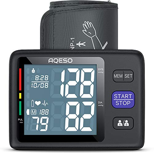 """Blood Pressure Monitor Upper Arm with Large Cuff 9""""-17"""", Accurate Automatic Digital Blood Pressure Cuffs for Home Use, Large LCD w/ Backlit, BP Machine w/ 1000 Readings, Pulse Rate Monitoring Meter"""