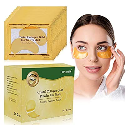 Collagen Eye Mask, Cooling Eye Patches, Under Eye Pads, Anti Aging Eye Patches, Eye Treatment Mask, for Dark Circles, Puffy Eyes, Dry Eyes, Eye Bags and Wrinkles.(25 Pairs) by Charmss