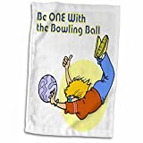 3D Rose Funny One with The Bowling Ball Design Hand/Sports Towel, 15 x 22