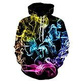 LaiYuTing Herbst und Winter Sweatshirt Sweater 3D-Digitaldruck Kapuzenpullover Atmungsaktive Liebhaber Frühling und Herbst Baseballuniform