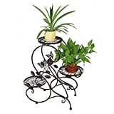 HLC 3 Töpf Metall Blumenständer Blumentreppe Pflanzer