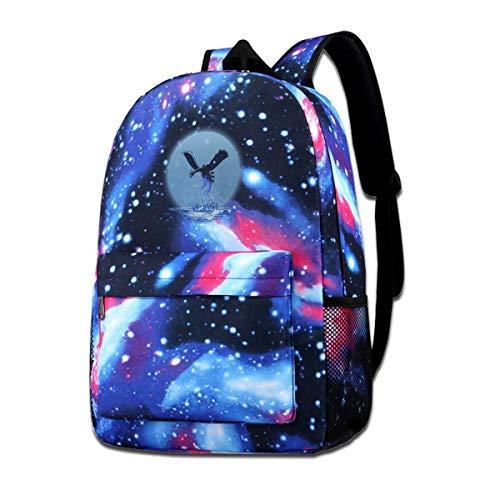 XNTWJMV Mochila con estampado de galaxia de monstruo del bolsillo, The Guardian of the Sea Lugia, para niños y niñas