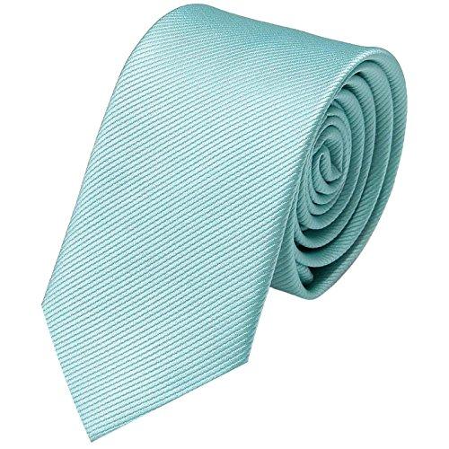 GASSANI Corbata de 8 cm   monocolor a rayas finas   Corbata para hombre para traje, corbata en 19 colores de moda azul turquesa, aguamarina. Medium