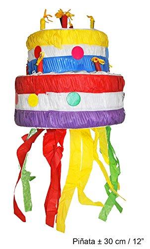 Generique - Piñata gâteau danniversaire 30 cm