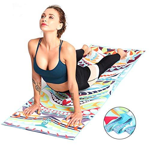 Colchoneta De Yoga Antideslizante, Práctica Manta De Toallas De Tela De Pilates, Manta De Secado Rápido Portátil Plegable Suave Perfecta Absorbente De Doble Cara Estera Antideslizante De Microfibra