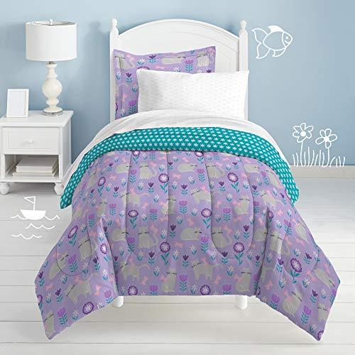 dream FACTORY Cat Garden Comforter Set, Twin, Gray,2A862601GY