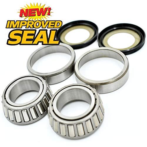 Steering Drag Neck Stem Post Bearing, Race & Seal Kit Replaces Harley Davidson OEM 48300-60, 48315-60, HD Switch