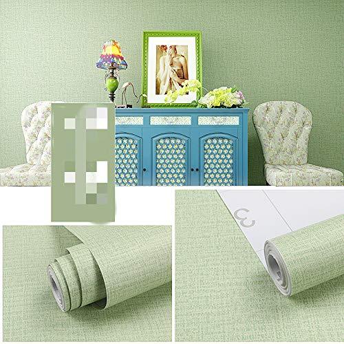 Film di rinnovo per camera da letto in carta da parati verde autoadesiva in PVC di 60 spessi larghi 60x500cm