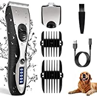 Telfun Rechargeable Cordless Clipper for Hair Trimming of All Parts of The Pet's Body
