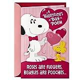 Hallmark Peanuts Musical Valentines Day Card for Kids (Snoopy Hug)