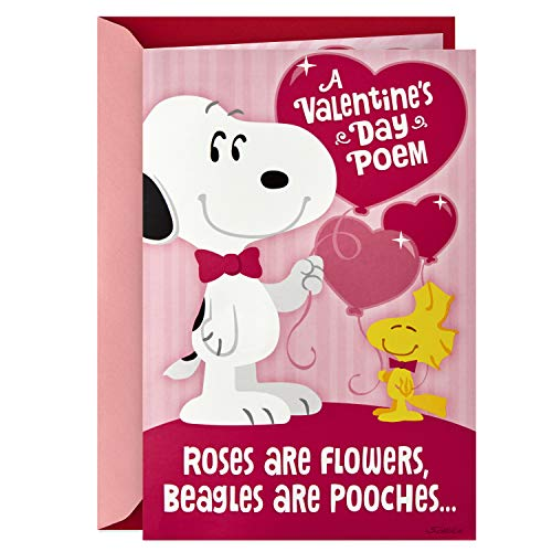 Hallmark Peanuts Musical Valentines Day Card for Kids (Snoopy Hug)