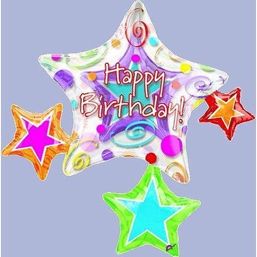 mejor calidad mejor precio Mayflower Balloons 1153 37 Happy Happy Happy Birthday Star Insider - Package by Mayflower  autorización oficial
