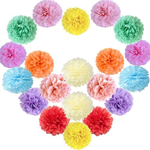 Vari colori disponibili 35,6/cm Paper Honeycomb palle confezione da 3 giallo 35/cm