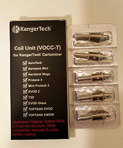 Kanger VOCC-T Kangertech verdampfer 1,5ohm (Pack 5) für AeroTank, Protank, EVOD und Toptank EVOD / EMOW Series by Vaporcombo
