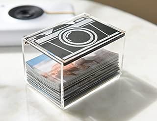 Polaroid Clear Acrylic Vintage Camera Photo Storage Box for Zink 2x3 Photo Paper (Snap, Zip, Z2300)