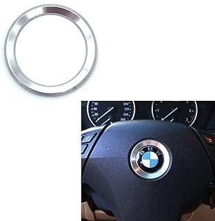 DEMILLO Aluminum Steering Wheel Center Decoration Cover Trim For BMW 1 2 3 4 5 6 Series X4 X 5 X6 (F20 F21 F22 F23 F30 F31 F32 F33 F35 F36 F10 F11 F12 F13 F26 F15 F16) (white)