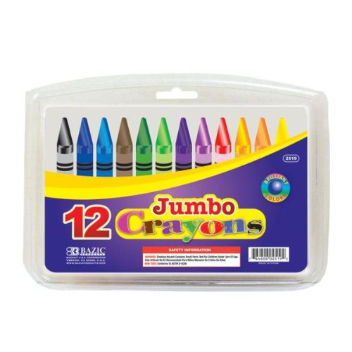 BAZIC 12 Color Premium Quality Jumbo Crayon Case Pack 72 BAZIC 12 Color Premium Quality Jumbo Crayo