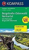 Bergstraße-Odenwald - Neckartal - Geo-Naturpark Bergstraße-Odenwald: Wanderkarten-Set mit Aktiv Guide in der Schutzhülle. GPS-genau. 1:50000 (KOMPASS-Wanderkarten)